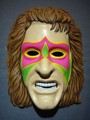 The Ultimate Warrior Wwe Kinder Erwachsene Neu Kostüm Ringer Maske Kostüm ()