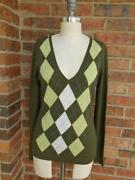 Womens Argyle Sweater