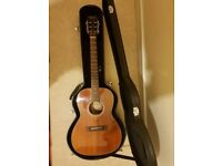 takamine EF407 semi acoustic including fitted hard case