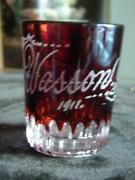 Ruby Souvenir Glass