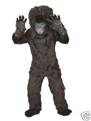 Gorilla Costume Child Sz 12-14 Scary Deluxe Quality-New (Scary Gorilla Costume)