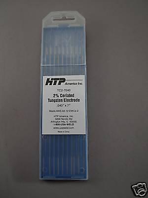 10 2 Ceriated Tungsten Tig Weld Electrodes .040 X 7
