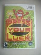 Press Your Luck Wii
