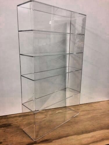 """Displays2buy Acrylic Lucite 14 x 4 1/4"""" x 24""""h Display Case ShowCase Box Cabinet"""