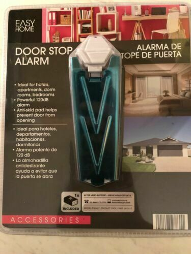 Easy Home Door Stop Alarm Dorm Safety Home Security New NIP NWT hotel anti skid