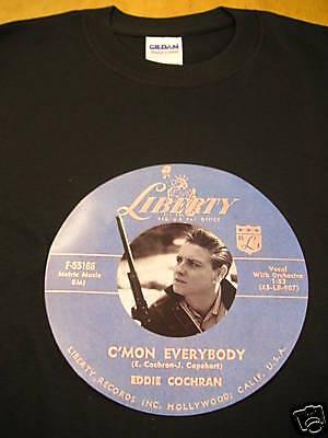 Eddie Cochran T-Shirt 1950/'s free delivery Rock/'n/'Roll Icon