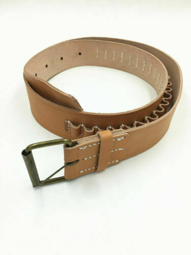Chinese Army Revolver Holster Belt Brown Leather