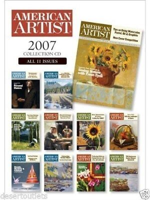 Artist Collection - American Artist Magazine 2007 Collection - CD, 11 Issues,  Drawing, Painting,