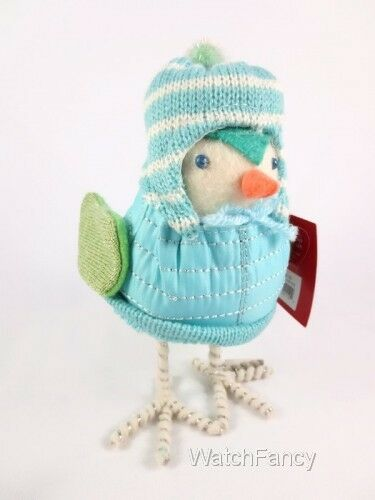 2018 Featherly Friends Nieva Fabric Christmas Bird Target Wondershop Figurine