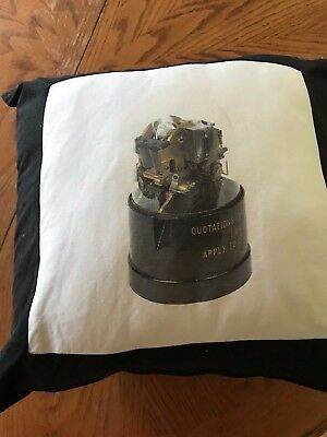 Replica Stock Ticker Tape Machine  Pillow  Dow Jones Nasdaq Trading Ny Exchange