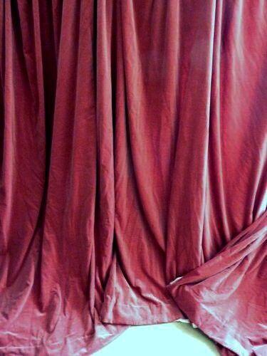 Vintage Lined Pink Velvet Curtains In Newcastle Tyne