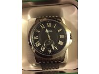 MENS FOSSIL WATCH /WORTH £139 ALL BOXED UP VERY GOOD CONDITION /SELLING FOR £60 OR SWAPS ARE WELCOME