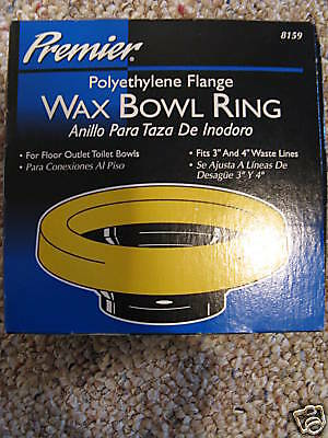 PREMIER FLANGE TOILET WAX BOWL RING MADE IN THE USA!!! ()