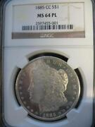 1885 CC Morgan Silver Dollar