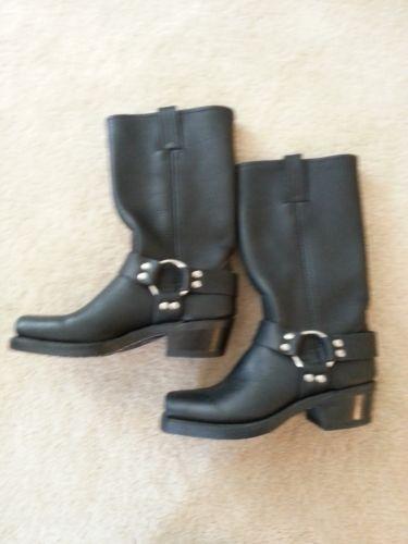 Womens Black Square Toe Boots Ebay