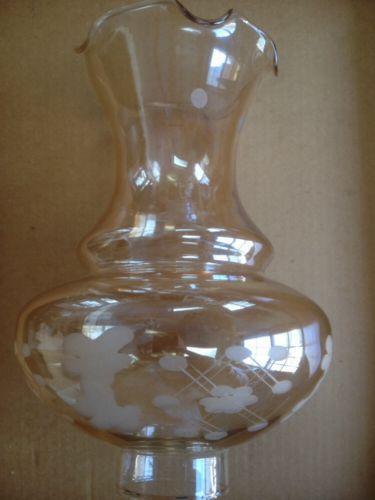 Etched Glass Chimney Ebay