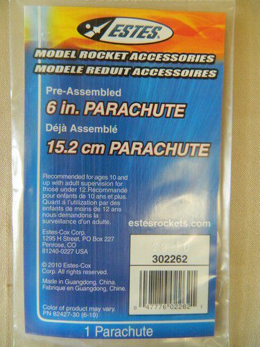 ESTES 302262 - 6  Inch  Parachute FREE SHIPPING