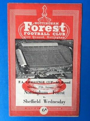 Nottingham Forest v Sheffield Wednesday FA Cup 4th Round  1961/1962