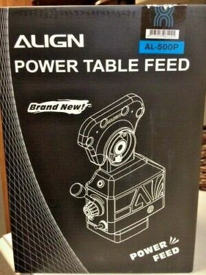Align Al-500p X-axis Milling Machine Power Feed Taiwan Made Brand New.