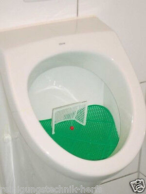 2 Stück Klokicker Urinalbecken Fußballtor Klokicker Pissoir Einlage Urinalsieb