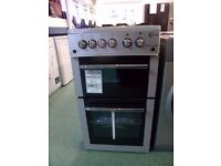 GAS COOKER 50CM FREE STANDING SILVER