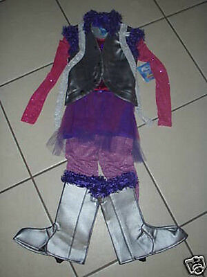 NWT! DISNEY STORE Silver HANNAH MONTANA Fancy Dress Halloween COSTUME S 7/8