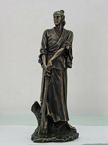 14 Inch Standing Japanese Samurai Warrior Resin Statue Figurine