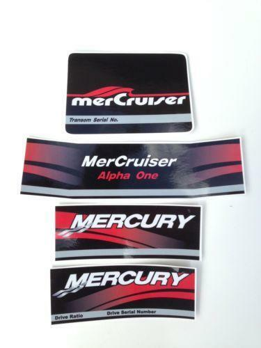 Mercruiser Outdrive Decals Boat Parts Ebay