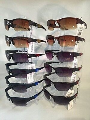 #LX1008 BEST SELLING HALF FRAME SPORTS SUNGLASSES Wholesale 12 (Best Male Sunglasses)