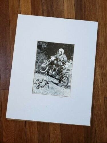 Autographed Photo Earl Bowlby by Kocks Motorcycle Hillclimb Muskegon 1978 BSA