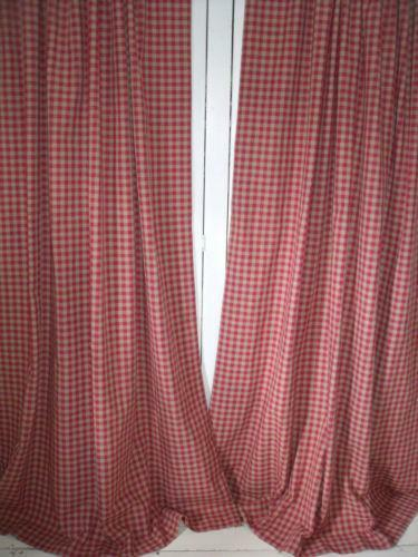 laura ashley gingham curtains ebay. Black Bedroom Furniture Sets. Home Design Ideas