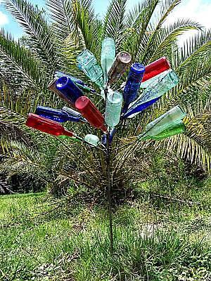 BIG 28 BOTTLE TREE Garden Art Lawn Wine Decor Stake - Wine Bottle Trees