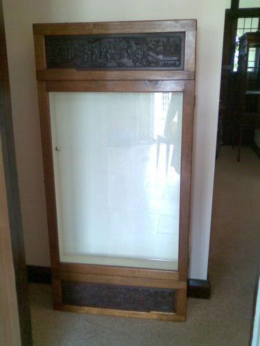 Wall Mounted Glass Display Cabinet Ebay