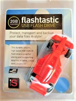 FLASHTASTIC USB FLASH DRIVE - Italian Red Ferrari - School Computer Laptop