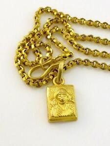 Gold necklaces chain men monogram rose gold ebay 24k gold necklace sciox Gallery