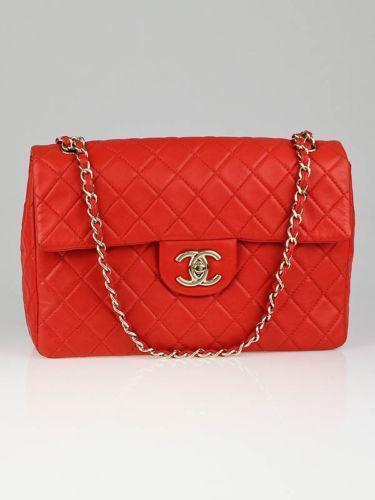 Chanel Classic Flap Bag Red Ebay