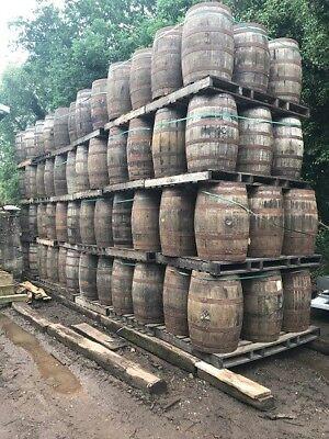 CLEARANCE SALE❗️200 Litre Oak Barrel - Water Feature / Water Butt / Garden Table