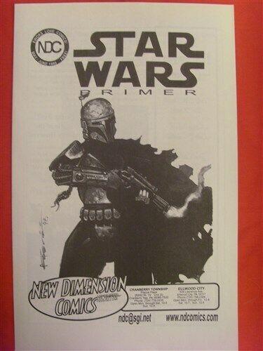 NEW DIMENSION COMIC NEWSLETTER STAR WARS BOBA FETT ORIGINAL ART MOELLER 1999 VF+