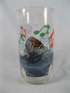 Have-Fun-Be-Merry-Party Pepsi Glass-Santa-Conducting
