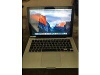 Apple MacBook Laptop A1278 13. - C2D ,4GB ram 160gb hdd ,MB466B/A Good working order