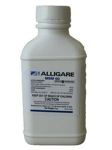 MSM 60DF Herbicide - 8 Ounces 60% Metsulfuron Methyl by Alligare