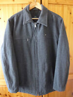AUTHENTIC MENS LACOSTE GREY CAR COAT SIZE LARGE