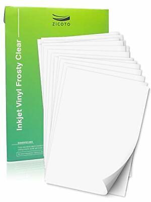 Premium Printable Vinyl Sticker Paper Laser Printer 15 Frosty Clear Waterproof
