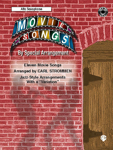 Movie Songs Alto Saxophone Film Music CD Music Book NEW
