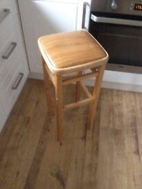 Retro tall bar stool with vinyl seat