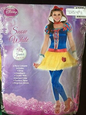 New Snow White Junior Large 11-13 L Costume - Disney Halloween Outfits