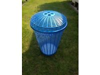 Large Blue Laundry Basket