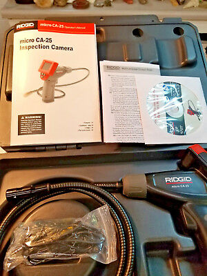 Ridgid Micro Ca-25 Cat. No. 40043 Hand Held Inspection Camera New In Case