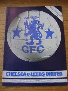 01-10-1977-Chelsea-v-Leeds-United-Faint-Crease-Marked-On-Cover-No-obvious-f