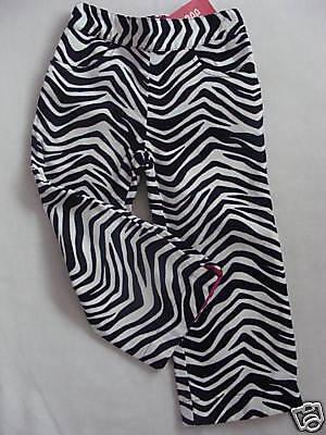 Gymboree WILD ONE Black White Zebra Stripe Pant Bottoms NWT 2T Fall Winter Wild One Black Zebra